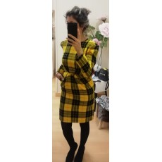 VESTIDO YELLOW TARTAN TOP